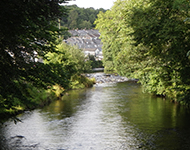 A view of Tavistock from the River Tavy